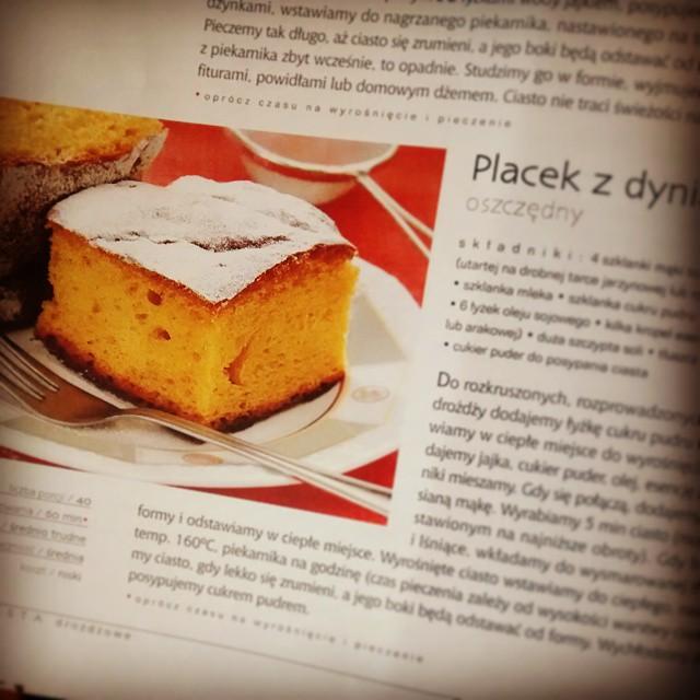 Raz nie wyszlo, ale do trzech razy sztuka ;) placek z dynia #pumpkin #cake #food #recipe