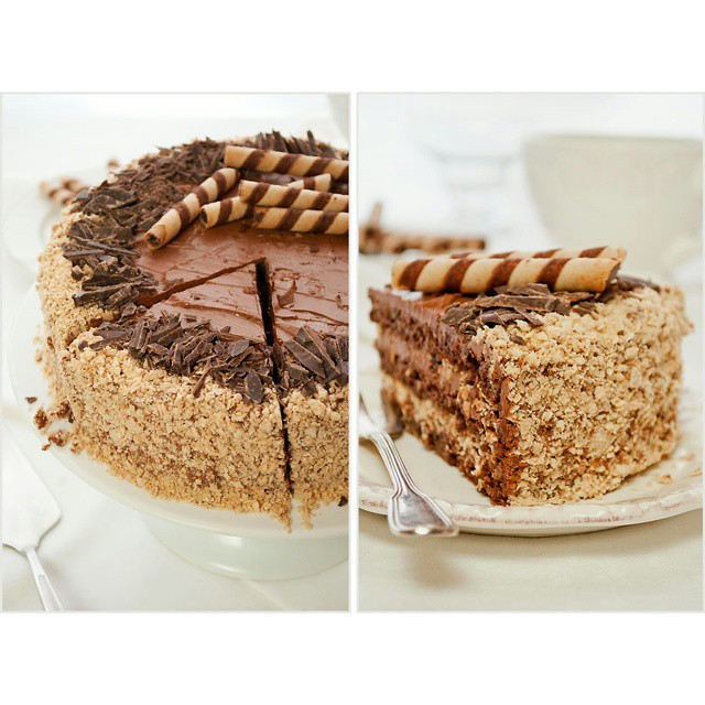 New post on @ilovebake_pl #ferrerorocher #cake #layercake #food #chocolate #nutella #sweettime #sweet