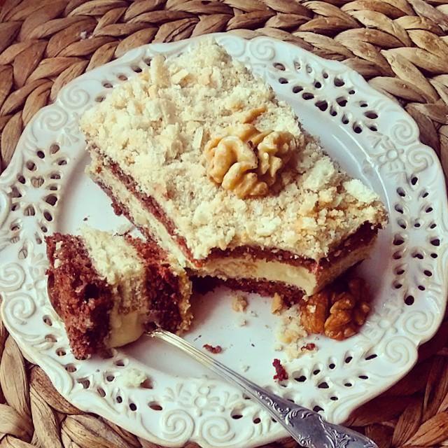 Hello monday #walnut #cake #food #photo #christmas #chocolate