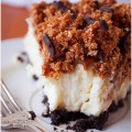 Samoa cheesecake follow me on @ilovebake.pl #foodie #cake #caramel #oreo #cheesecake #foodporn #coconut #chocolate #samoas