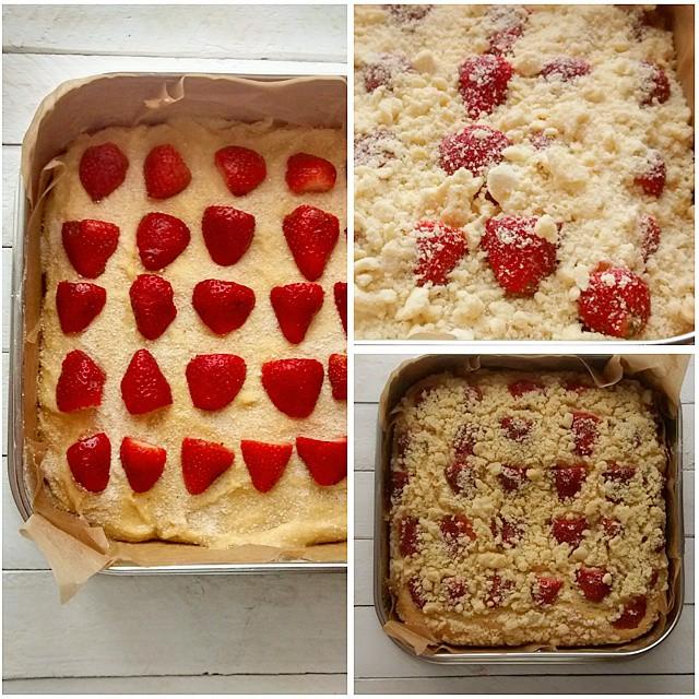 Moja drozdzowka z truskawkami ??? #drozdzowka #truskawki #ciasto #maj #sezon #pycha #yummy #yummyinmytummy #baking #foodporn #strawberry #fruit #yeast #foodlover