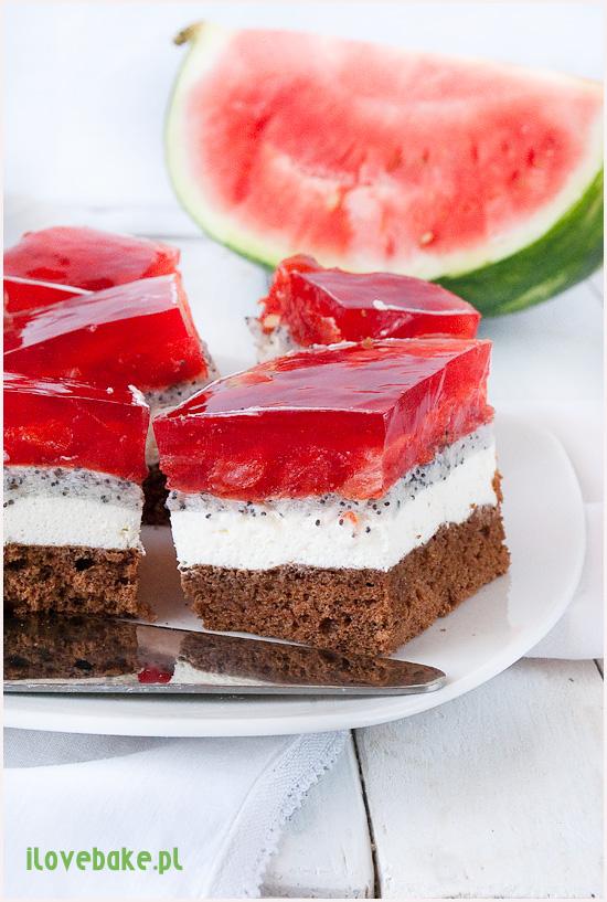 ciasto arbuzowiec z arbuzem