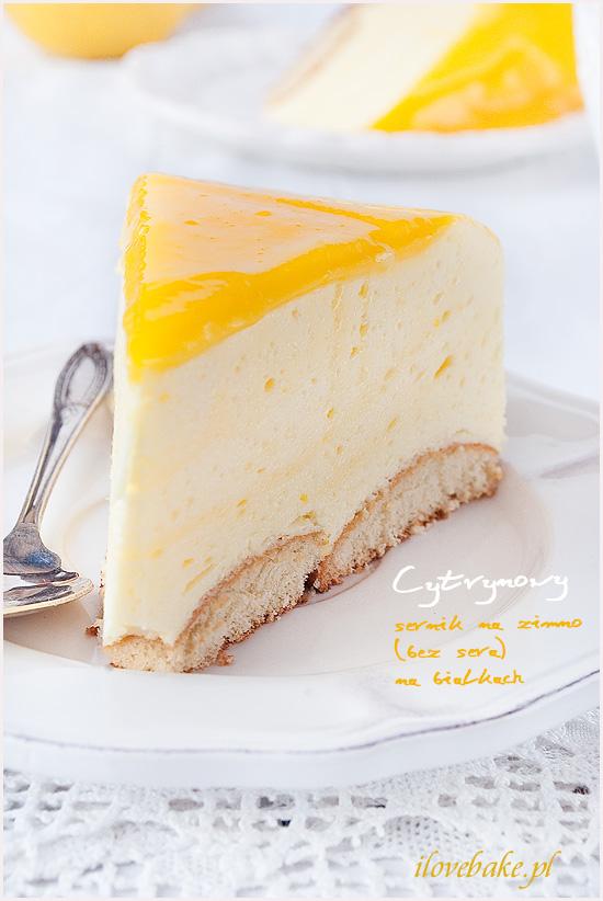 cytrynowe sernik na zimno bez sera na bialkach