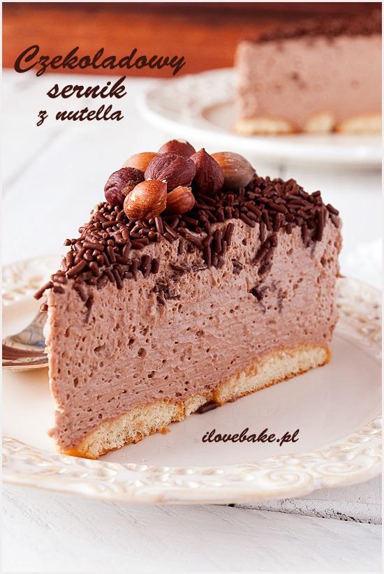 czekoladowy sernik na zimno z nutella