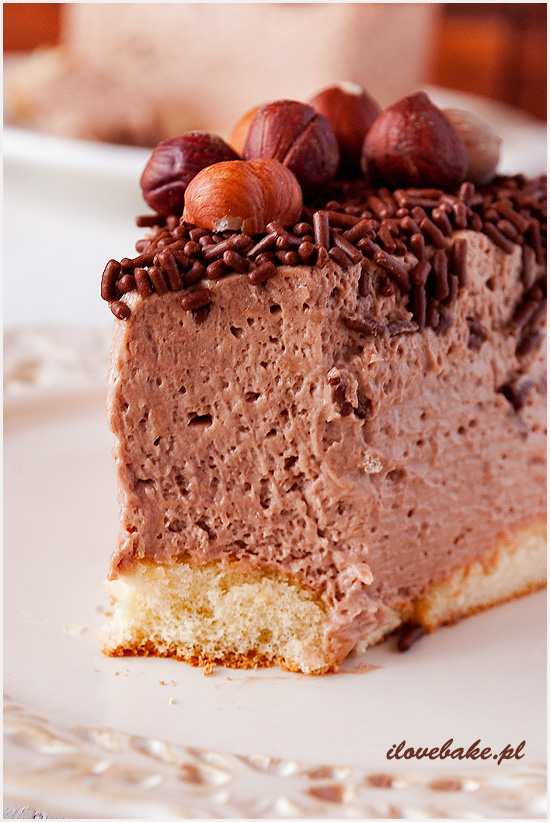czekoladowy sernik z nutella