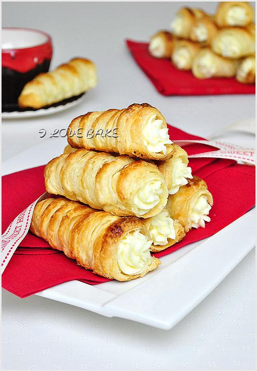 rurki z ciasta francuskiego