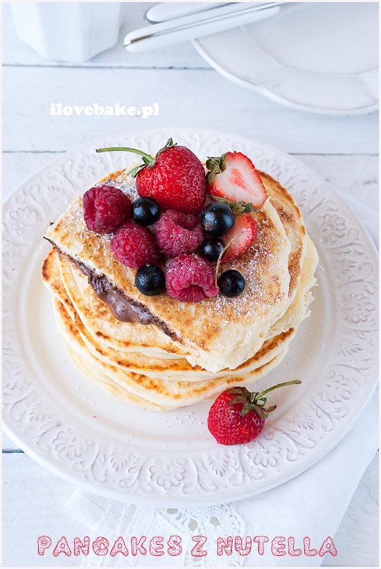 pancakes z nutella