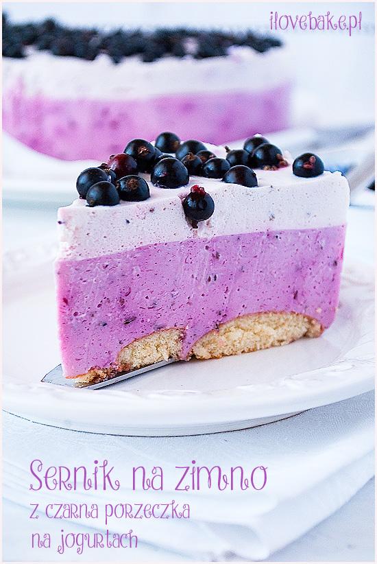 sernik na zimno z serków homogenizowanych lub jogurtach