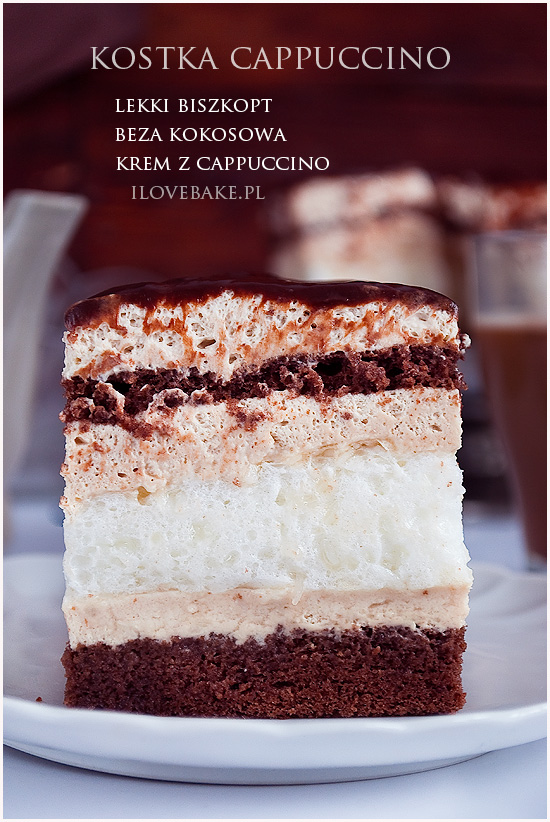 ciasto kostka cappuccino