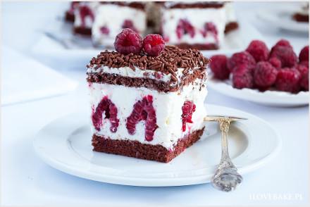 ciasto z malinami i mascarpone-