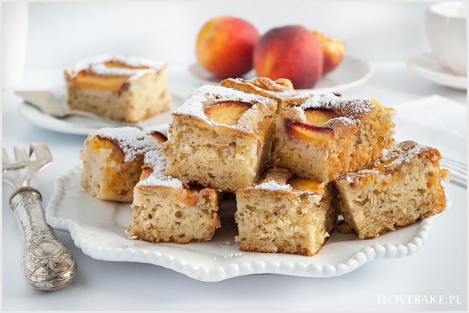 Owsiane Ciasto Z Brzoskwiniami I Love Bake