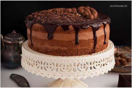 tort czekoladowy z musem czekoladowym-5