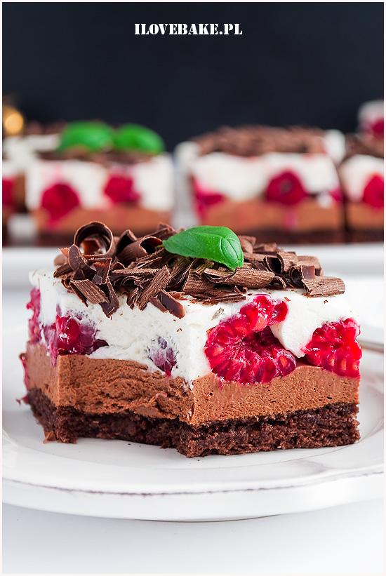 Ciasto czekoladowe z malinami