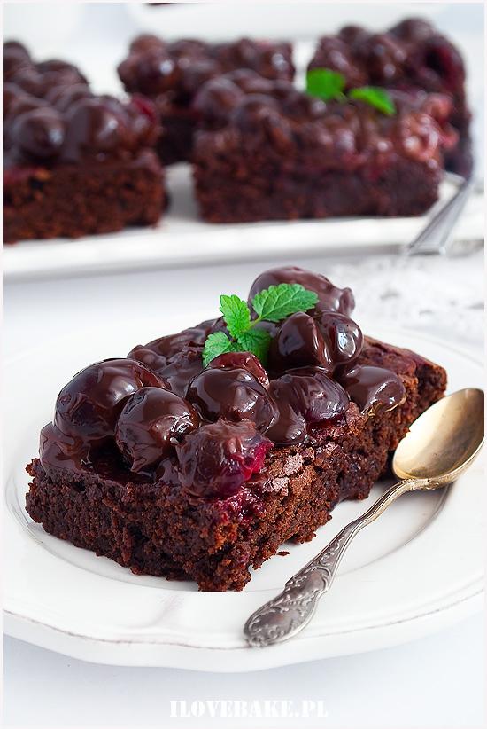 brownie wiśnia w czekoladzie