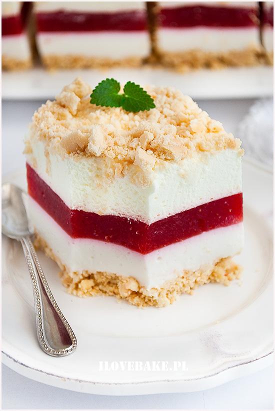 ciasto truskawkowa lasagnia