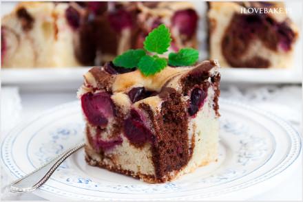 Ciasto łaciate z wiśniami-9