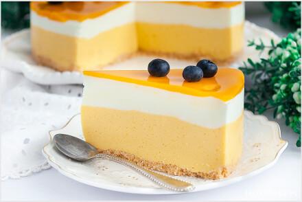 Sernik z mango bez pieczenia-5