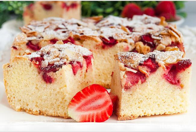 Ciasto orkiszowe z truskawkami-4