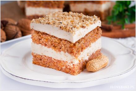 Ciasto marchewkowe z kremem orzechowym-3